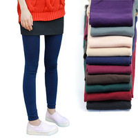 Spring and autumn women's candy color plus velvet thickening legging plus size pantyhose step on the foot ankle length trousers