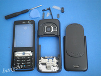 FULL BLACK MOBILE REPLACEMENT HOUSING COVER CASE +KP FOR NOKIA N73