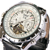 Free shipping Swiss tourbillon watches Men hollow automatic mechanical watch men's wristwatch