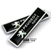 Peugeot 207 307 308 408 508 refit emblem metal car stickers 3d after decoration label
