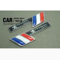 Peugeot 508 408 308 307 207 206 metal emblem car body labeling the three-dimensional 3d fender