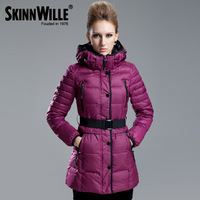 Down coat female hot-selling fashion slim medium-long down coat female