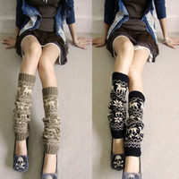 ankle sock autumn and winter thickening lengthen thermal yarn socks over-the-knee cuish socks stockings boot covers