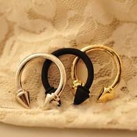 Fashion Cheap Design Vintage Punk Jewelry Rivets Arrow Ring T6023