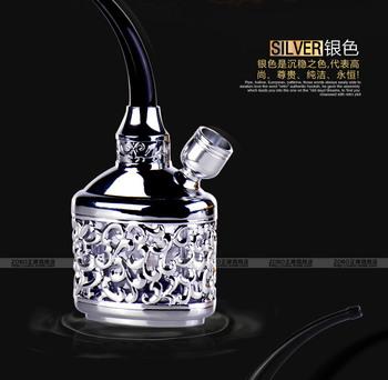 Free Shipping Glass water smoking pipe zobo hookah cycle multiple filter cigarette holder hookah smoking pipe