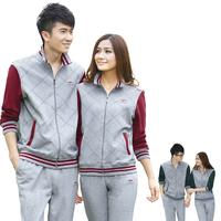 Lovers sportswear set male sports set male spring and autumn women's sportswear set
