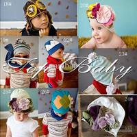 infant fashion hat Top 2014 new baby boy girl hair accessory children flowers caps designer one piece retail