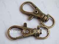Free ship! 200piece Antique bronze Jewelry 38mm Strong Swivel Claw Lobster Clasp Bags Necklace Bracelet Hooks