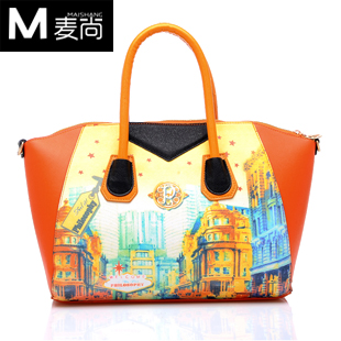 Doodle bag 2-illust vintage HARAJUKU comic handbag messenger bag women bag casual women's handbag bag