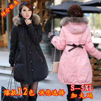 2013 Thickening plus size Maternity clothing female medium-long down coat fashion winter wadded jacket upperwear overcoat  0310