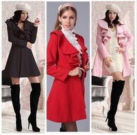 2013 womens windbreaker women fashion trench casual lace coats Ladies long style tops outerwear with single button c014