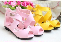 Big discount! ! ! Hot fashion cute sweet princess sandals with free shipping around children