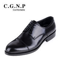 Noble connector commercial genuine leather shoes low-top shoes round toe formal leather