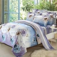 Mendale bedding four cotton cotton pastoral satin reactive printing bedding 60 large version suite11