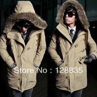 New arrival men's fashion casual warm cotton coat thicken jacket winter autumn for man free shipping Q361