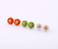 Free Shipping 2013 hotsale Fashion accessories candy sunflower girl child color flower stud earring