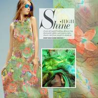 140cm Wide Gradients Hazy Dream Series All Silk Embroidery Jacquard Georgette Fabric DIY Handmade Cloth.