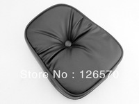 Free Shipping BACKREST Black CUSHIONED Pad for Harley Honda Kawasaki Suzuki Yamaha Custom Choppers Touring Crusier
