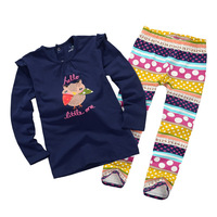 free shipping!Retail girls autumn clothing set,long sleeve girls t-shirt+pants,children floral suits,1-6 years