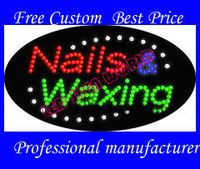 2013 new Arrival Nails and Waxing  Led sign  20pcs/lot New Styles Led Display  Led Open sign