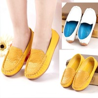 2013 female child candy color gommini loafers patchwork children shoes single shoes foot wrapping cow muscle soft leather