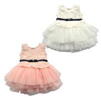 Children's clothing female child ballet skirt white pink vest princess tulle dress puff skirt dress lace tulle