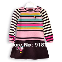 new arrival france brand france spring ca**mi** winter girls fashion christmas dress princess flower 3T-10T woollen dress