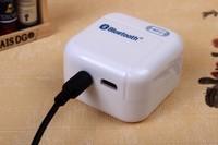 Portable Mini Bluetooth  NFC Music Mic Audio Receiver Partner For iPod iPad iPhone 4S 5G Free Shipping Drop Shipment