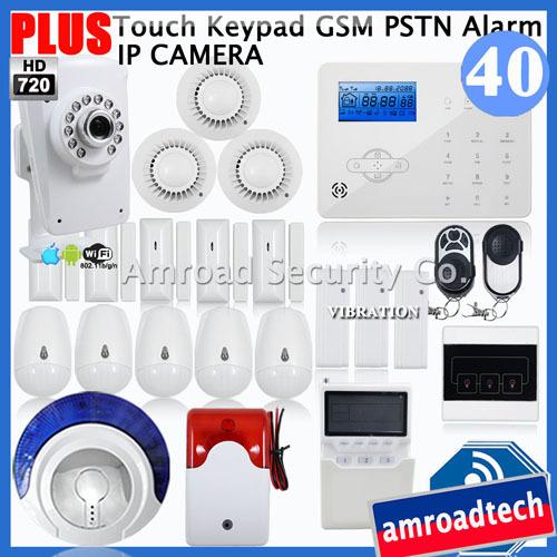 Датчики, Сигнализации OEM PSTN GSM W + HD720P Wifi IP iHome328GPB40 датчики сигнализации tino lcd gsm pstn yn gsm40b