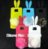 Sweet Rabbit Bunny Silicone Skin Case Cover cartoon TPU soft case For Samsung I9100 Galaxy S2 S II S 2 SSI9100 free shipping