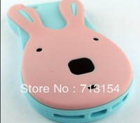 Sweet Rabbit bunny ear Bunny Silicone Skin Case Cover cartoon 3D TPU soft case For iphone 5 5g free shipping