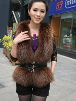 2012 raccoon sheepskin vest outerwear
