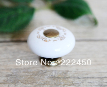 Free shipping!10Pcs Furniture Accessories Ceramic Drawers Knobs door handle