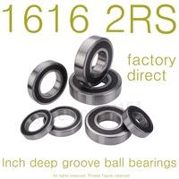 "10PCS High Quality 1616-2RS bearing 1/2""x1 1/8""x3/8"" inch 12.7*28.575*9.525 mm miniature inch shielded deep ball bearing"