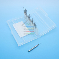 10pcs Carbide PCB CNC Engraving Bits End Milling Cutter drill 3.15mm