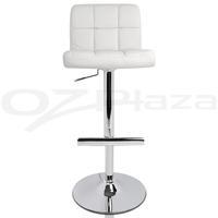 4x PU Leather Bar Stool Kitchen Chair White