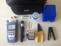 15-piece Fiber Optics Tool Kit with Fiber Cleaver Optical Power Meter Visual Fault Locator 10mw