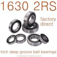 "10PCS High Quality 1630-2RS bearing 3/4""x1 5/8""x1/2"" inch 19.05*41.275*12.7mm miniature inch shielded deep ball bearing"