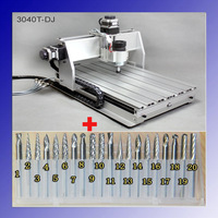 "3 Axis CNC Engraver Engraving Cutting Machine CNC 3040 3040T-DJ + 20x 3.175mm 1/8"" Tungsten Carbide Cutter"