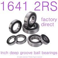 10PCS High Quality 1641-2RS bearing 25.4*50.8*14.288 mm miniature inch shielded deep ball bearing