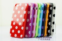 Mobile case, Plastic material, Cute Point Style, Multicolors, Compatible for Iphone 5, Free shipping
