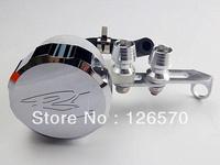 Free Shipping Chrome Front Brake Fluid Cap w/ Tank For 1998-2012 Yamaha YZF R1 YZF-R1