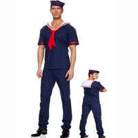Free shipping cosplay/make up Men sailor suit navy suit male uniform fashion game service halloween cosplay/make up