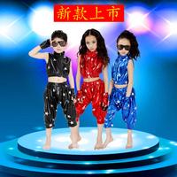 Free shipping children dress Child performance wear modern hip-hop male female child jazz dance hip-hop big boy costume