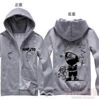 Naruto anime cosplay Autumn and winter hoodie kakashi a3 thickening zipper sweatshirt coat jackets