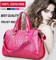 HIGH QUALITY 2013 New arrival fashion genuine leather bag ROSE MARRY crocodile pattern handbag women's totes messenger bag