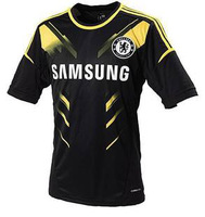 Chelsea 2012 - 2013 jersey black away game torres short set champions league jersey