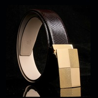 Cowhide serpentine pattern commercial male strap genuine leather male belt