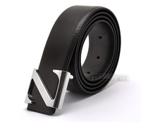 Fashion handsome male strap z prefixes smooth buckle strap white collar business casual belt three-color