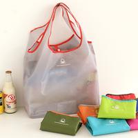 Candy color folding portable shopping bag large capacity bag eco-friendly tote storage bag 13374